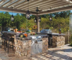 outdoor kitchen ideas, outdoor grill island, and outdoor kitchen island image