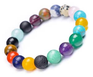 etsy, natural stone, and meditation bracelet image