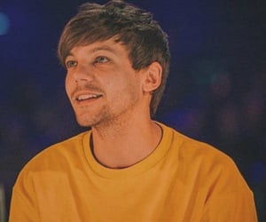 yellow, louis tomlinson, and one direction image