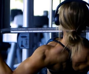 bodybuilding, fitness workout, and treadmill workout image