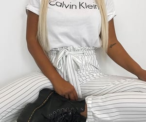 Calvin Klein, white, and clothes image