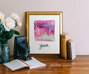 art print, watercolor print, and june birthstone image