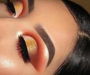 beauty, colorful eyeshadow, and bronze image