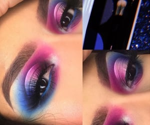 beauty, glam, and colorful eyeshadow image