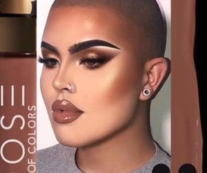 beauty, lip gloss, and bronze image