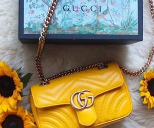 bag, gucci, and yellow image