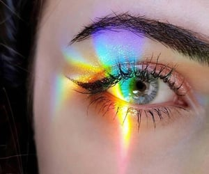 aesthetics, eyes, and makeup image