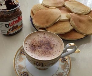 food, nutella, and coffee image