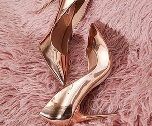 shoes, gold, and pink image