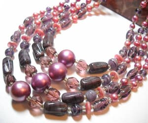 crystal necklace, vintage jewelry, and vintage japan image