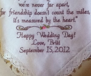 embroidered, bridal handkerchief, and mother of the groom image
