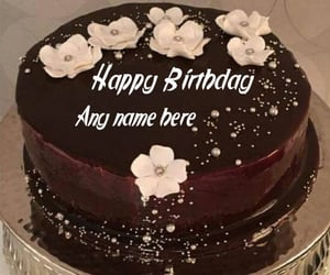birthday cake with name image