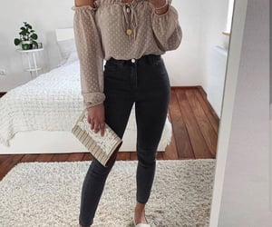 casual, jeans, and shoes image