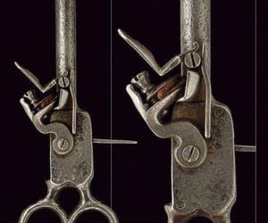 antique, key, and pistol image