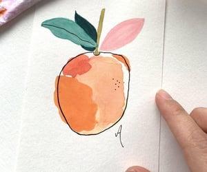 orange, painting, and art image