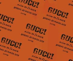 gucci, orange, and wallpaper image