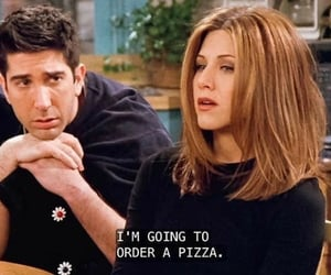 90s, monica geller, and pizza image