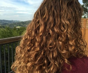 curly, dyed, and hair image