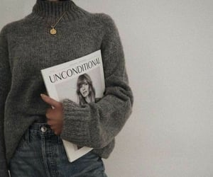 fashion, grey, and magazine image