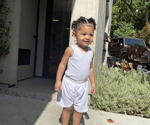 stormi, baby, and kylie jenner image