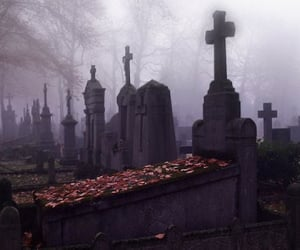 autumn, gothic, and dark image