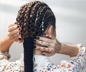 belleza, hair, and trenzas image