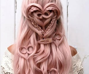 hair, beauty, and pink image