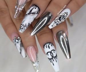chanel, nails, and style image
