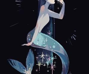 drawing, inspiration, and mermaid image