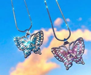butterfly, aesthetic, and clouds image
