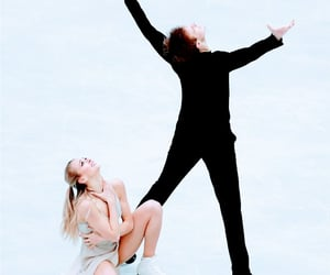 couple, figure skating, and russia image