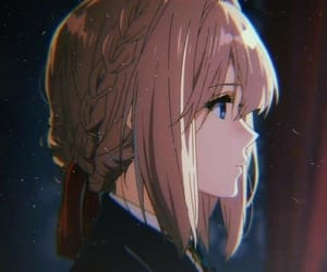 anime, girl, and violet evergarden image