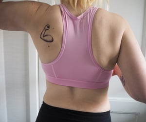 fit, strong, and tatoo image