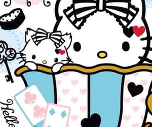 alice in wonderland, hello kitty, and sanrio image