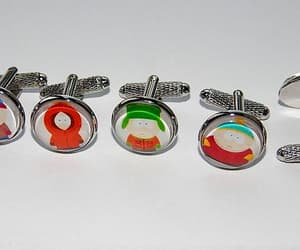 eric cartman, kyle broflovski, and cartoon cufflinks image