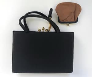 etsy, retro evening bag, and gold buckle clasp image