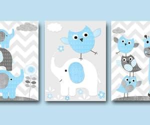 etsy, blue grey, and nursery print image