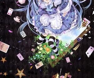 alice in wonderland, hatsune miku, and fanart image
