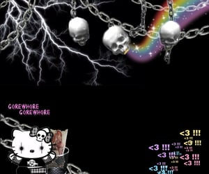 grunge, hello kitty, and overlay image
