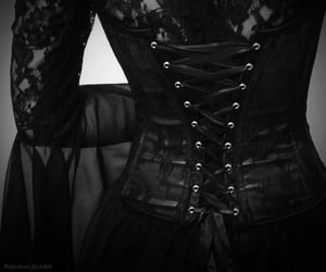 gothic, goth, and corset image