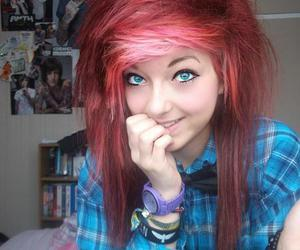 red, red hair, and scene hair image