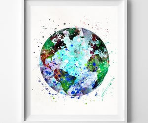etsy, gift for her, and globe print image