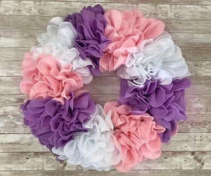 etsy, floral wreath, and flowerwreath image