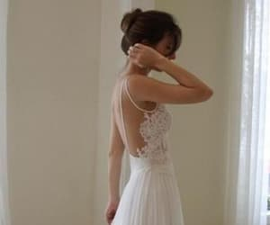 backless, bridal gown, and chiffon image