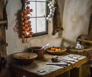 cottage, garlic, and kitchen image