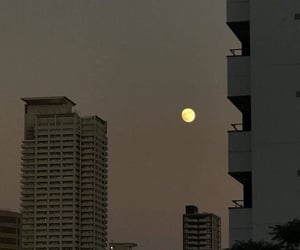 city, moon, and sky image