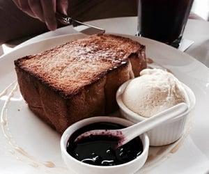 food, ice cream, and breakfast image