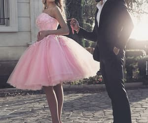 pink prom dress, prom ball gown, and vestido de graduation image