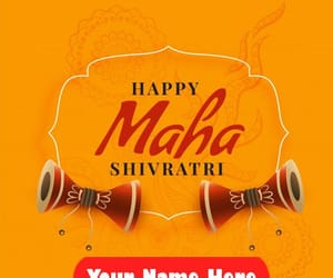 happy shivratri photo, edit custom name pic, and celebration wishes quotes image