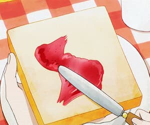 bread, jelly, and red image